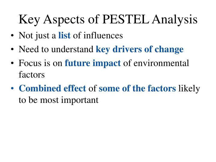 Key Aspects of PESTEL Analysis