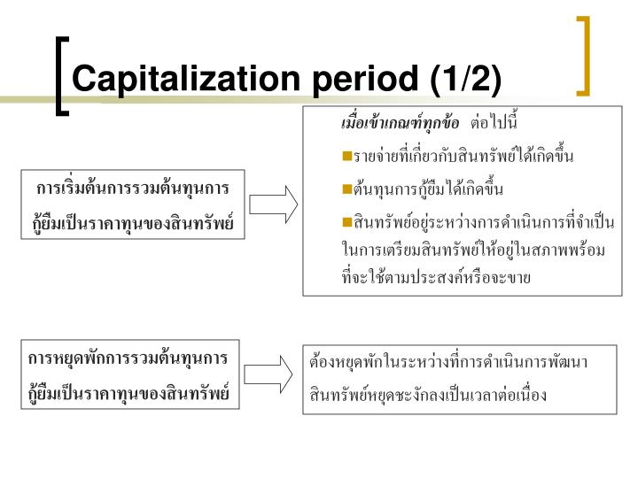 Capitalization period (1/2)