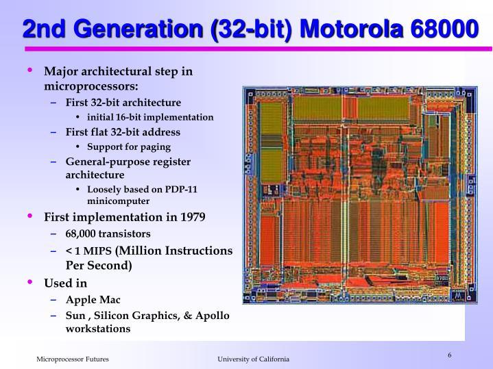 2nd Generation (32-bit) Motorola 68000