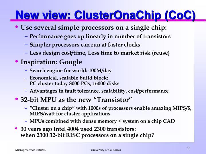 New view: ClusterOnaChip (CoC)