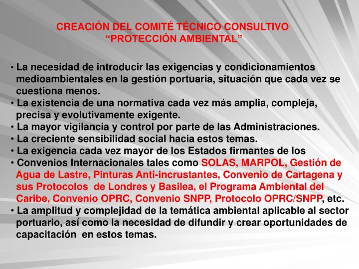 CREACIÓN DEL COMITÉ TÉCNICO CONSULTIVO