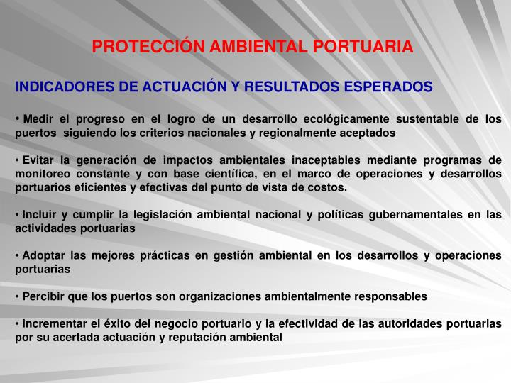 PROTECCIÓN AMBIENTAL PORTUARIA