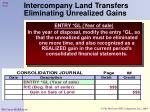 intercompany land transfers eliminating unrealized gains2