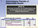 intercompany transfer of depreciable assets