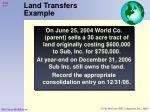 land transfers example