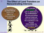 the effect of land transfers on noncontrolling interests1