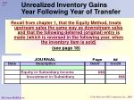 unrealized inventory gains year following year of transfer2