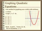 graphing quadratic equations1