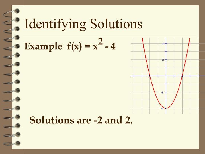 Identifying Solutions