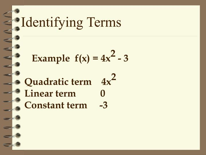 Identifying Terms