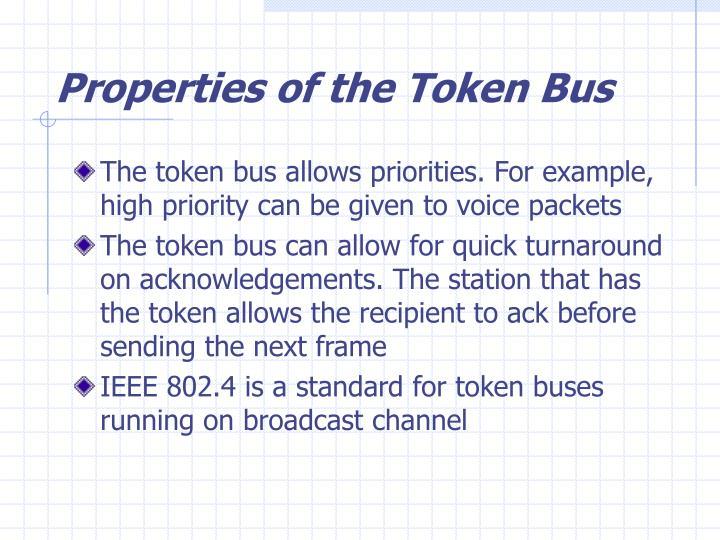 Properties of the Token Bus
