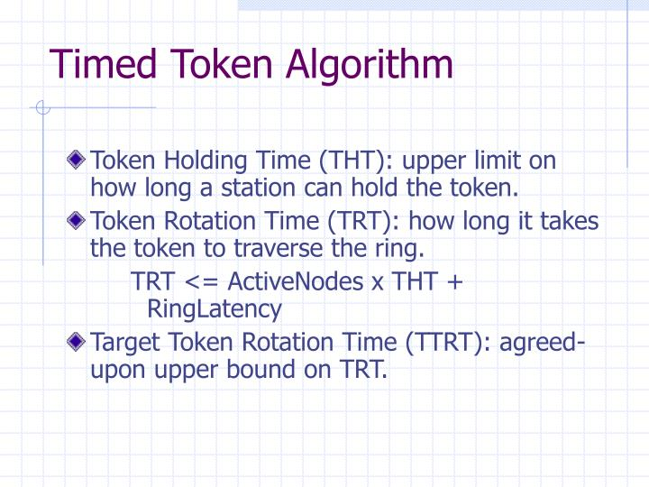 Timed Token Algorithm