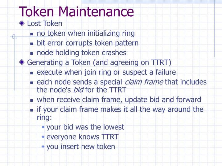 Token Maintenance