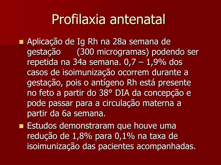 Profilaxia antenatal