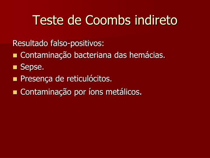 Teste de Coombs indireto