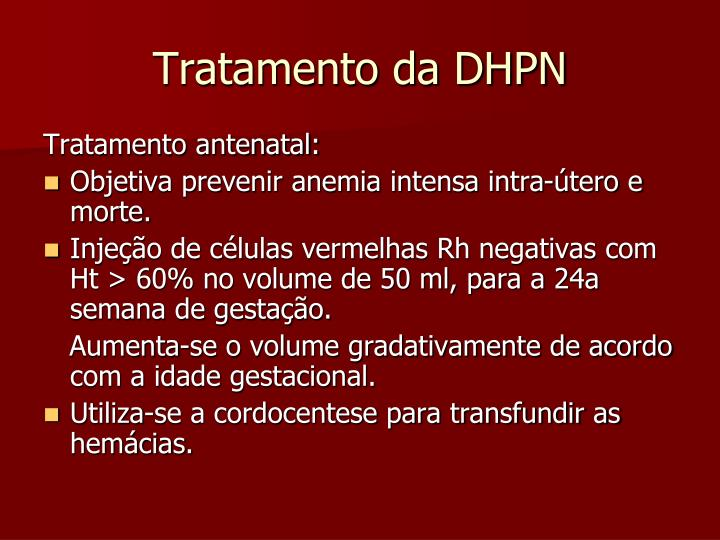 Tratamento da DHPN