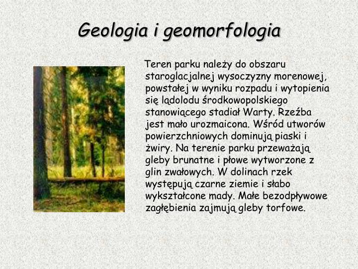 Geologia i geomorfologi