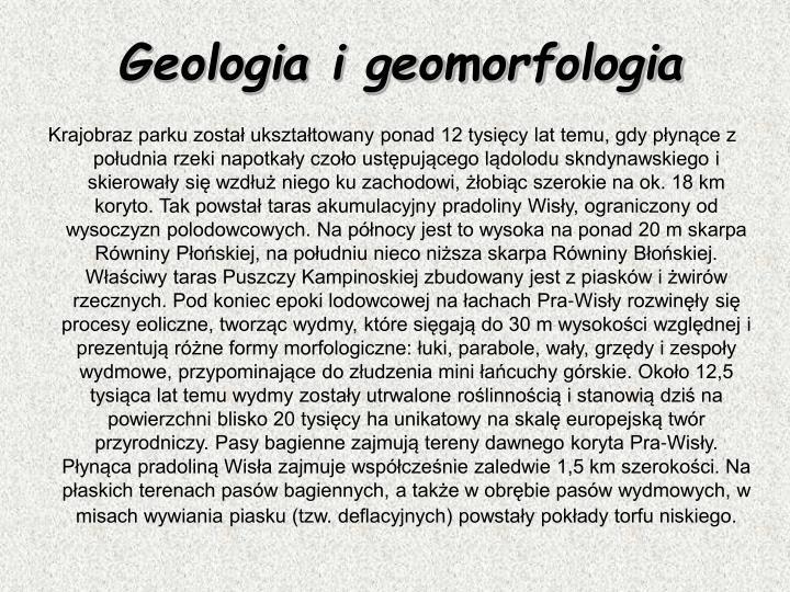 Geologia i geomorfologia