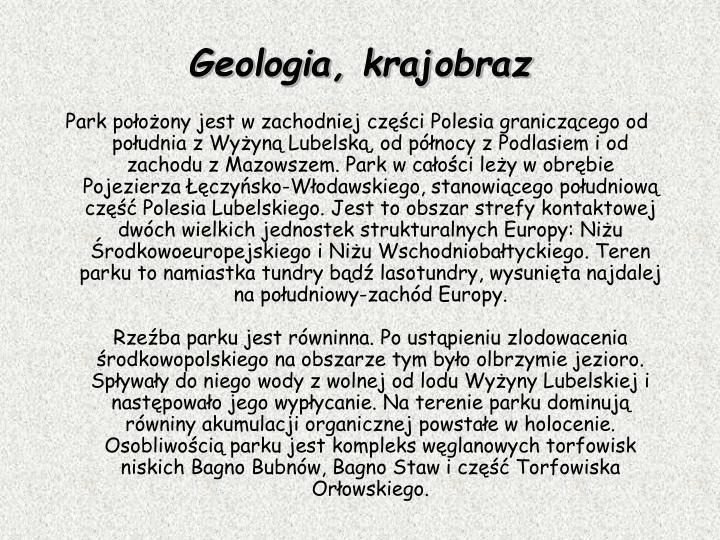 Geologia, krajobraz