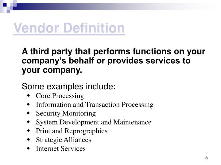 Vendor Definition