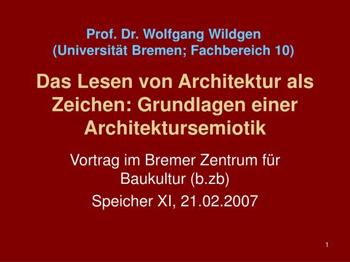 Prof. Dr. Wolfgang Wildgen