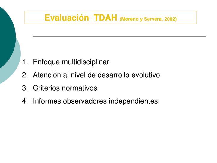 Evaluación  TDAH