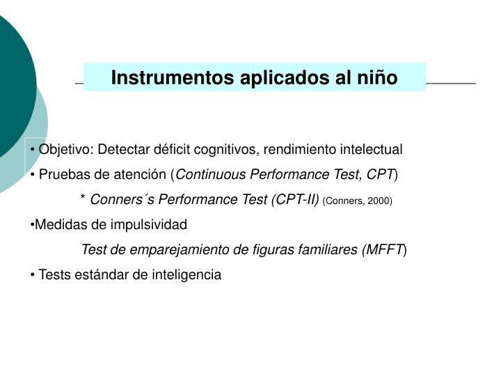 Instrumentos aplicados al niño