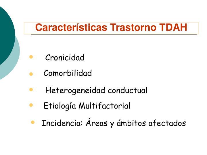 Características Trastorno TDAH