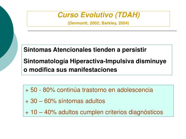 Curso Evolutivo (TDAH)