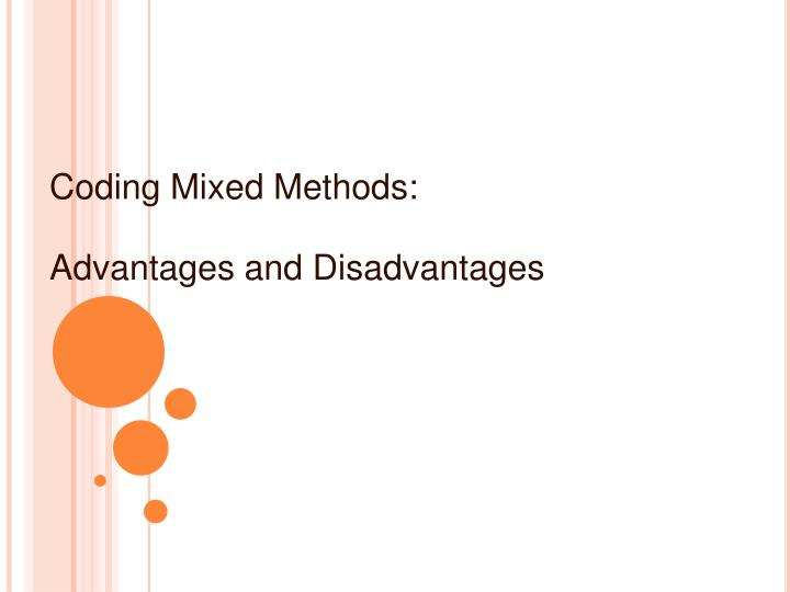 Coding Mixed Methods: