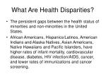 what are health disparities