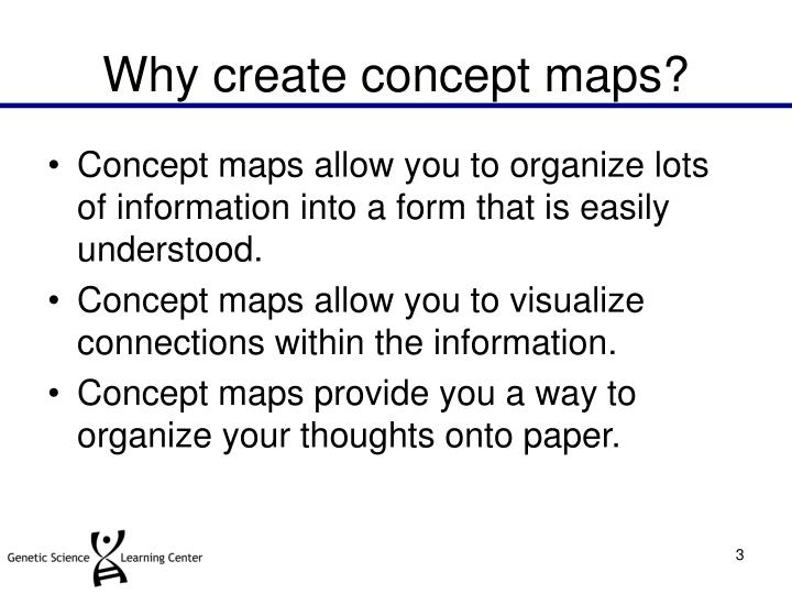 Why create concept maps