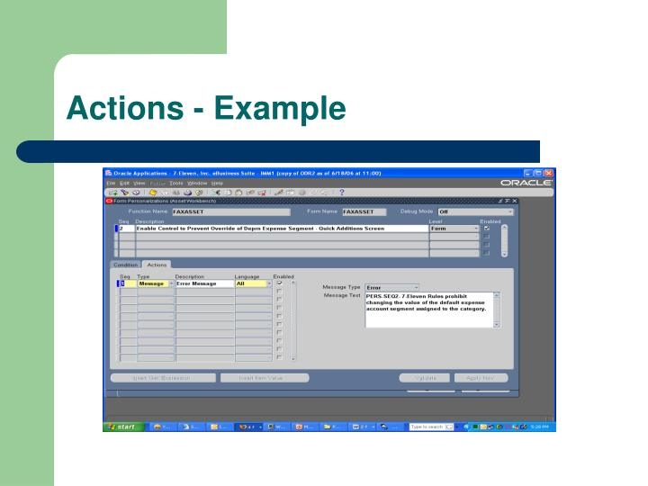 Actions - Example