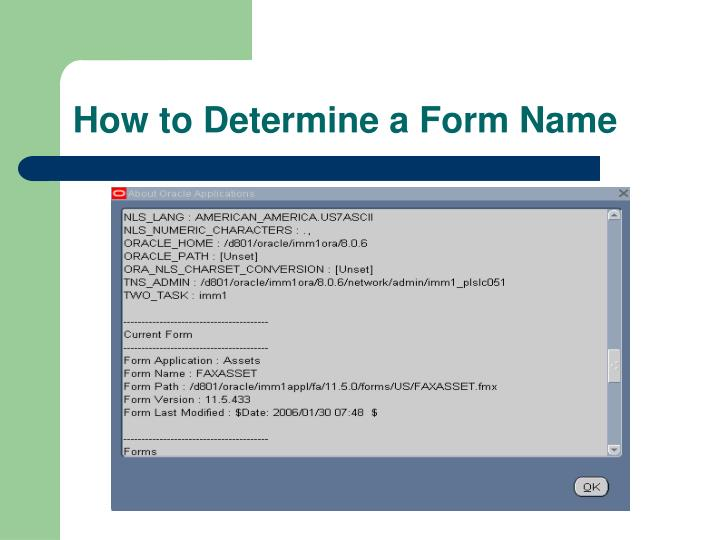 How to Determine a Form Name