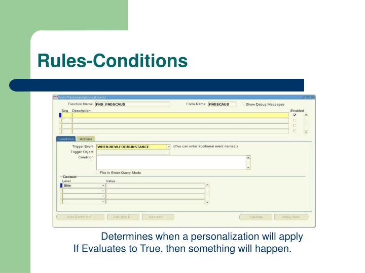 Rules-Conditions