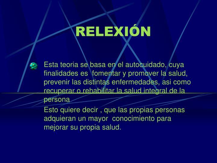 RELEXIÓN