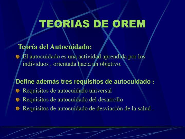 TEORIAS DE OREM