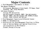 major contents