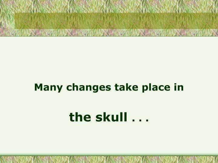 Many changes take place in