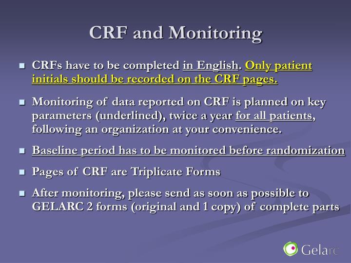 CRF and Monitoring