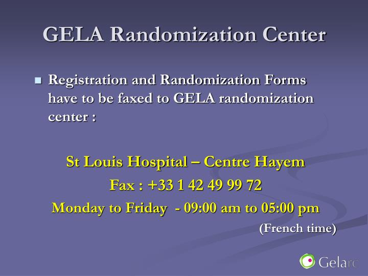 GELA Randomization Center