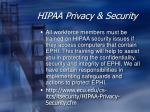 hipaa privacy security