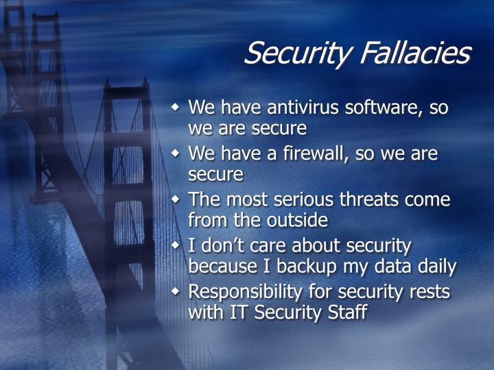 Security Fallacies