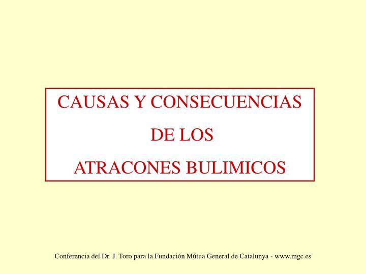 CAUSAS Y CONSECUENCIAS