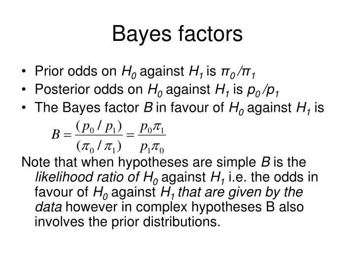 Bayes factors