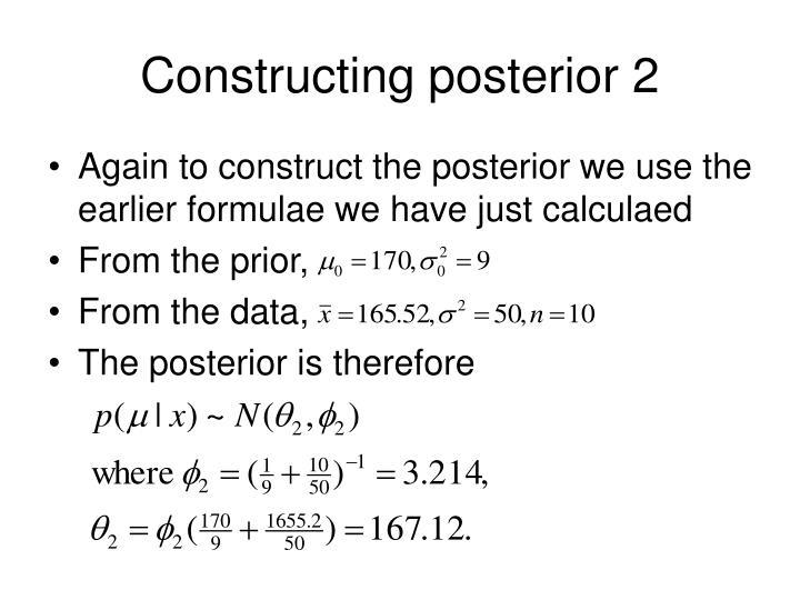 Constructing posterior 2