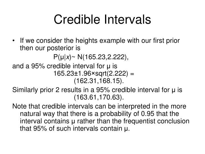 Credible Intervals
