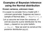 examples of bayesian inference using the normal distribution