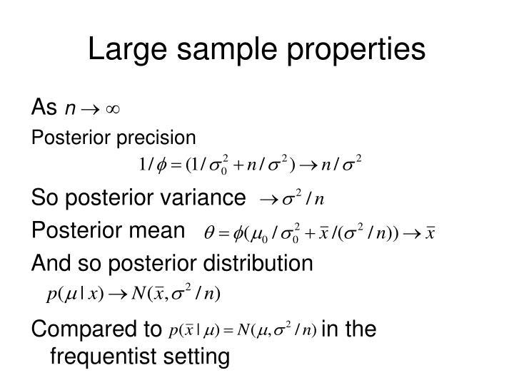 Large sample properties