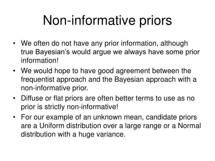 Non-informative priors